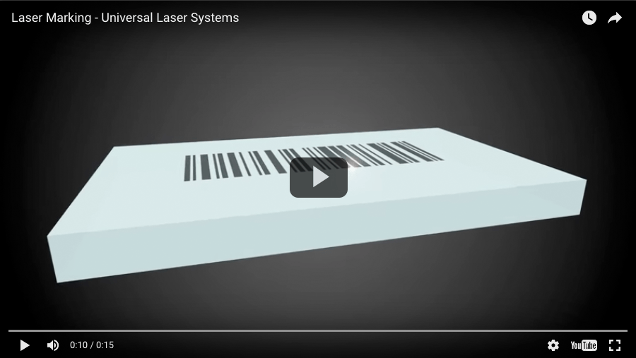video laser marking